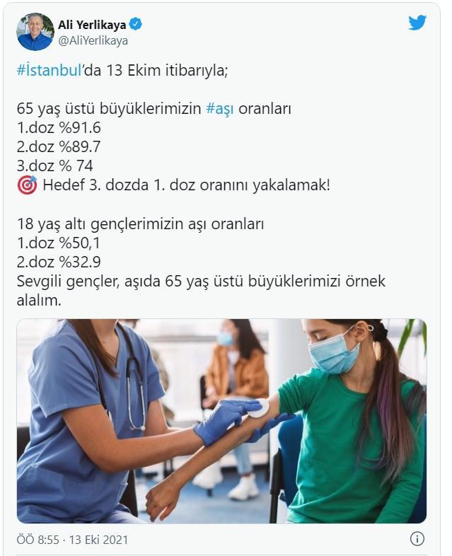 ali-yerlkaya-13-ekim-istanbul-koronavirüs-aciklamasi